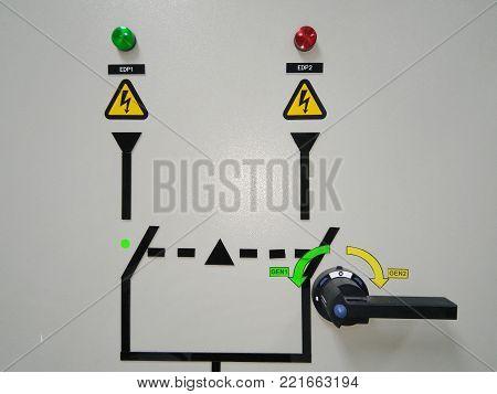 generator switch handle panel box line path