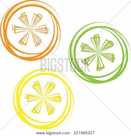 Whole shiny orange, grapefruit, lime and lemon with green leaves, hand drawn sketch style vector illustration on black background. Side view hand drawing of unpeeled orange, grapefruit, lemon and lime