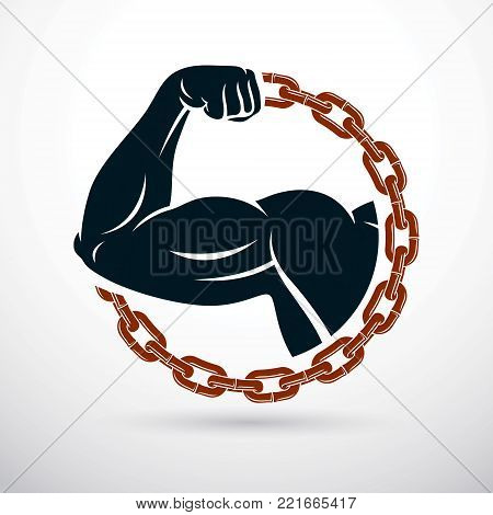 Athletic Arm Composed Vector Photo Free Trial Bigstock