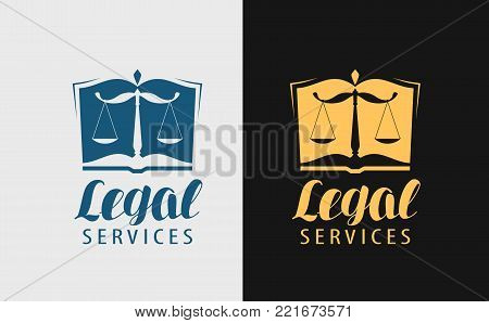 Legal services logo. Notary, justice, lawyer icon or symbol Vector
