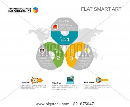 Three options process vector photo free trial bigstock three options process chart slide template business data international world map design gumiabroncs Gallery