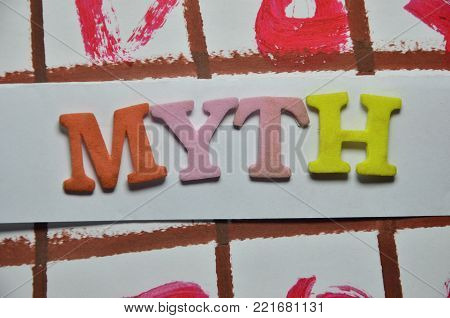 word myth on an abstract colored background poster