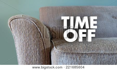 Time Off Relax Vacation Day Couch Break Rest 3d Illustration