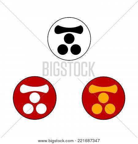 Mori samurai crest, vector graphic of the crest or mon of the Japanese Samurai Clan.