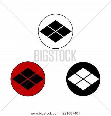 Takeda samurai crest, vector graphic of the crest or mon of the Takeda Japanese Samurai Clan.