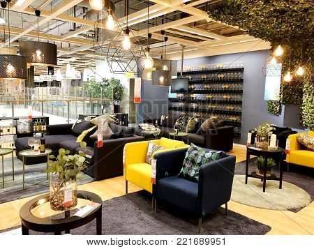 RISHON LE ZION, ISRAEL- DECEMBER 16, 2017: Interior furniture store
