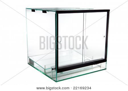 terrarium, a glass vivarium for keeping exotic and tropical pet animals such as lizards snakes and frogs animal tank poster