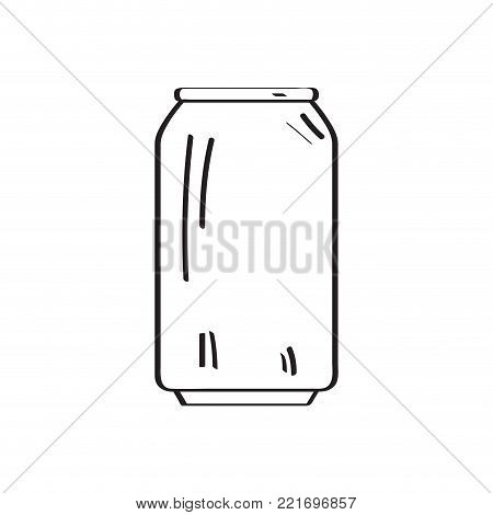 Outline of a beer can, Vector illustration