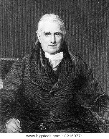 John Scott (1751-1838). Engraved by H.Robinson and published in National Portrait Gallery Of Illustrious And Eminent Personages encyclopedia, United Kingdom, 1840. poster