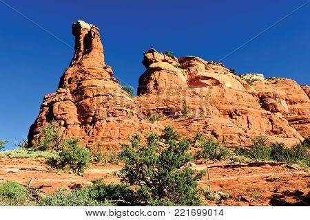 A rock formation along the Boynton Canyon Trail in Sedona Arizona referred to by local people as