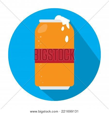 Beer can icon on a white background, Vector illustration