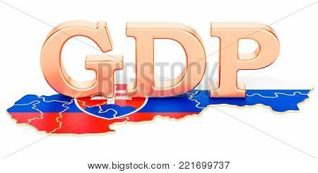 gross domestic product GDP of Slovakia concept, 3D rendering isolated on white background