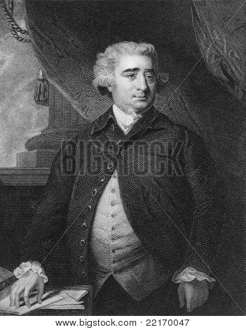 Charles James Fox (1749-1806). Engraved by I.W.Cook and published in The Gallery Of Portraits With Memoirs encyclopedia, United Kingdom, 1837.
