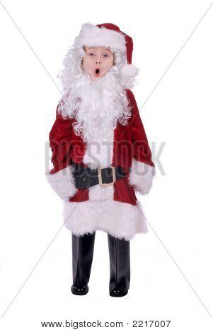 Boy In Santa Suit