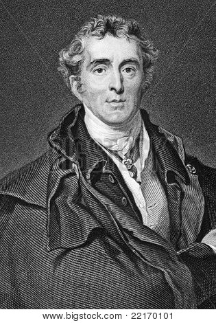 Arthur Wellesley, 1st Duke of Wellington (1769-1852). Engraved by H.Robinson and published in Fisher's Drawing Room Scrap Book, United Kingdom, 1837.