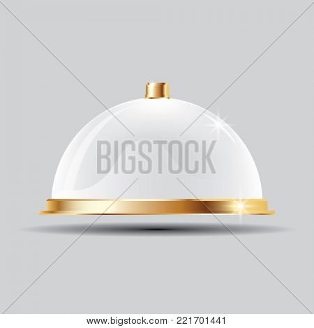 Glass Dome on Transparent Background. Empty Mock-up.