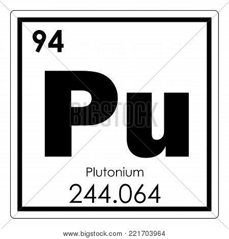 Plutonium chemical element periodic table science symbol