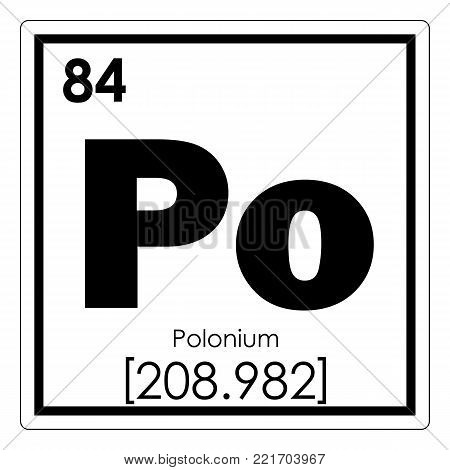 Polonium chemical element periodic table science symbol