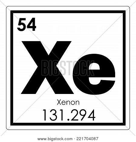 Xenon chemical element periodic image photo bigstock xenon chemical element periodic table science symbol urtaz Images