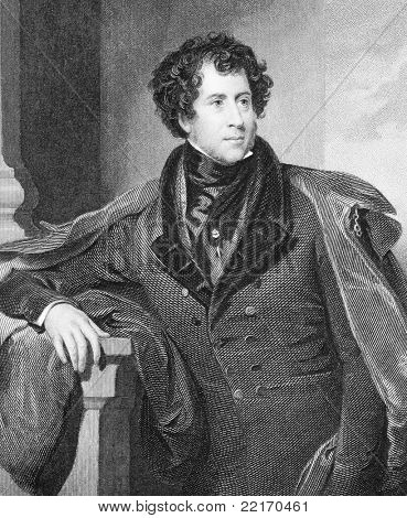 Constantine Henry Phipps (1797-1863). Engraved by H.Robinson and published in The National Portrait Gallery Of Illustrious And Eminent Personages encyclopedia, United Kingdom, 1847.