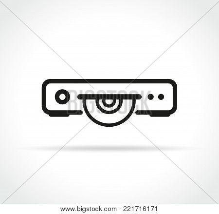 Illustration of cd or dvd or blue ray player icon