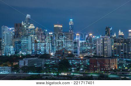 Night Scene Of Bangkok, Thailand