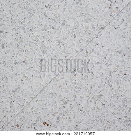 Indoor White Grannite Floor Close Up Background.