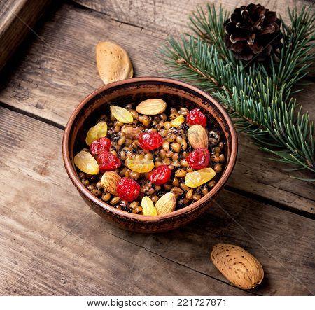 Wheat Porridge With Nuts And Raisins