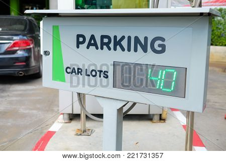 Available parking sign, A digital pixelboard parking car lots space sign