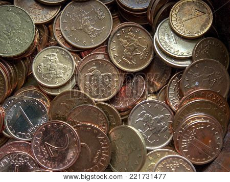 Bulgarian currency coins called