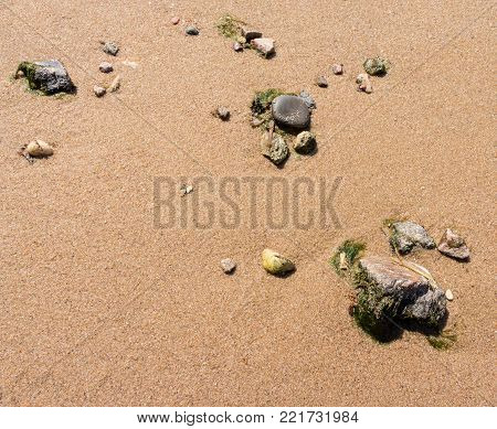 Sand And Stones Background
