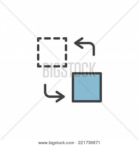 Transfer filled outline icon, line vector sign, linear colorful pictogram isolated on white. Content management symbol, logo illustration. Pixel perfect vector graphics