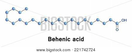 Behenic acid, also docosanoic acid, is a carboxylic acid, the saturated fatty acid with formula C21H43COOH.