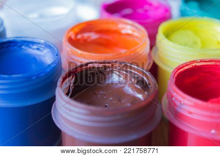 paint, color, gouache, red, isolated, white, blue, green, yellow, colored, paints, set, glass, colorful, palette, painting, liquid, container, bottle, orange, plastic, creativity, dye, jar, image, healthy, cool, background, food, refreshment, summer
