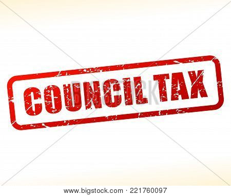 Illustration of council tax red text stamp