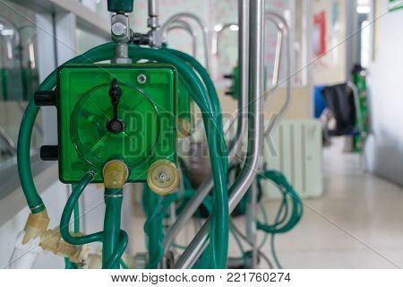 Oxygen Respirator Medical equipment in a hospital