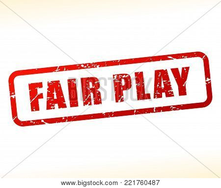 Illustration of fair play red text stamp