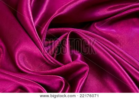 Soft Red Satin Fabric Swirled
