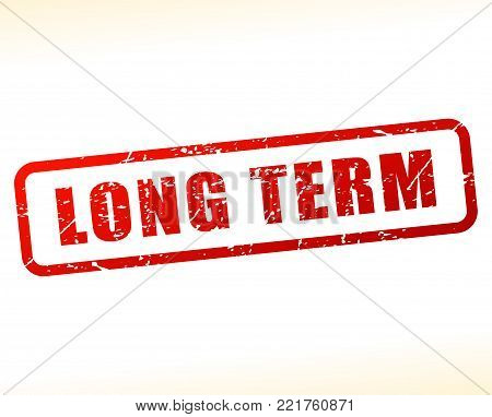Illustration of long term red text stamp