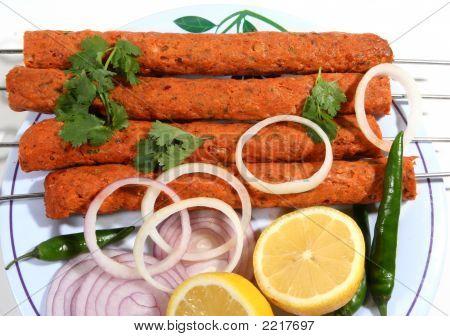 Seekh Kabab Food In Plate