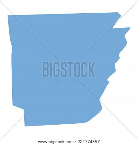 Map of Arkansas State on a white background, Vector illustration