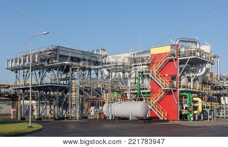 Heavy industrial equipment for manufacturing in chemical plant