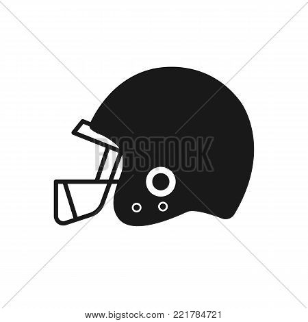 American football helmet isolated on white background. Vectot stock.