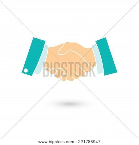 Icon of a handshake symbolizing an agreement signing a contract or transaction