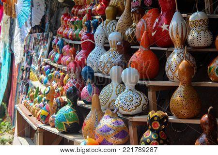 Decorative Handmade Calabash In The Turkish Market