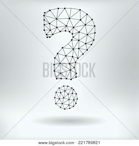 Vector Net Symbol of Question Mark - Reticulated Design