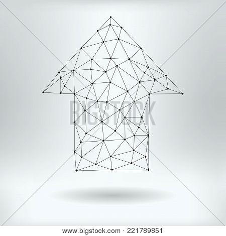 Vector Net Symbol of Up Arrow- Reticulated Design