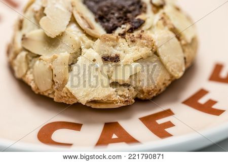Sicilian almond pastries on a coffee platter