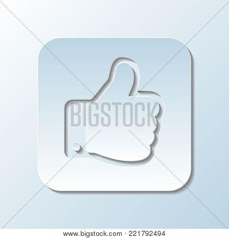 Paper Carved  Gesture of Approval   - Vector Illustration