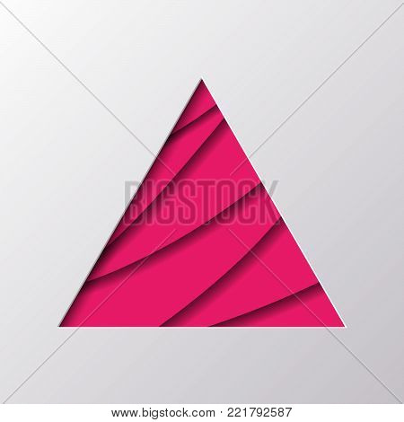 Paper Carved Symbol of  Triangle   - Vector Illustration